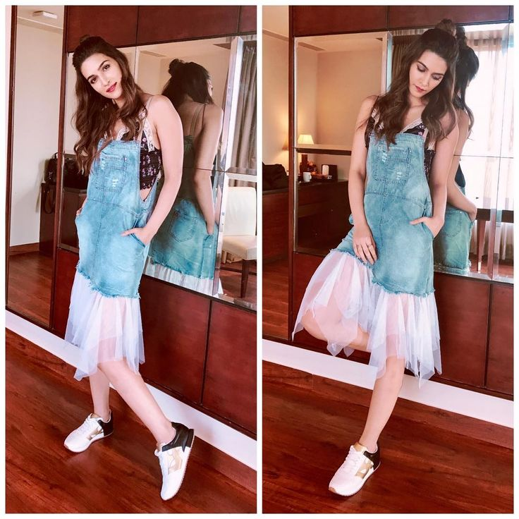 """371.5k Likes, 1,332 Comments - Kriti (@kritisanon) on Instagram: """"In @_purple_paisley_ today! Love Denim!  Styled by @sukritigrover Makeup by…"""""""