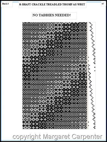 Talking About Weaving 8-SHAFT CRACKLE TREADLED TROMP AS WRIT