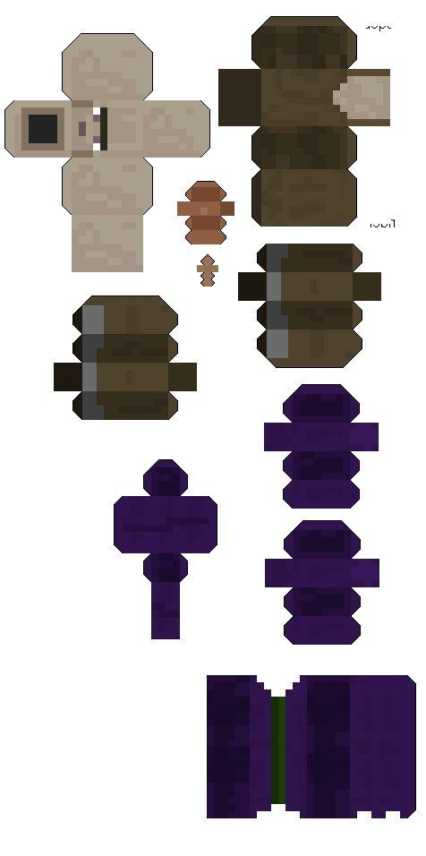 Minecraf Witch Papercraft Part 2