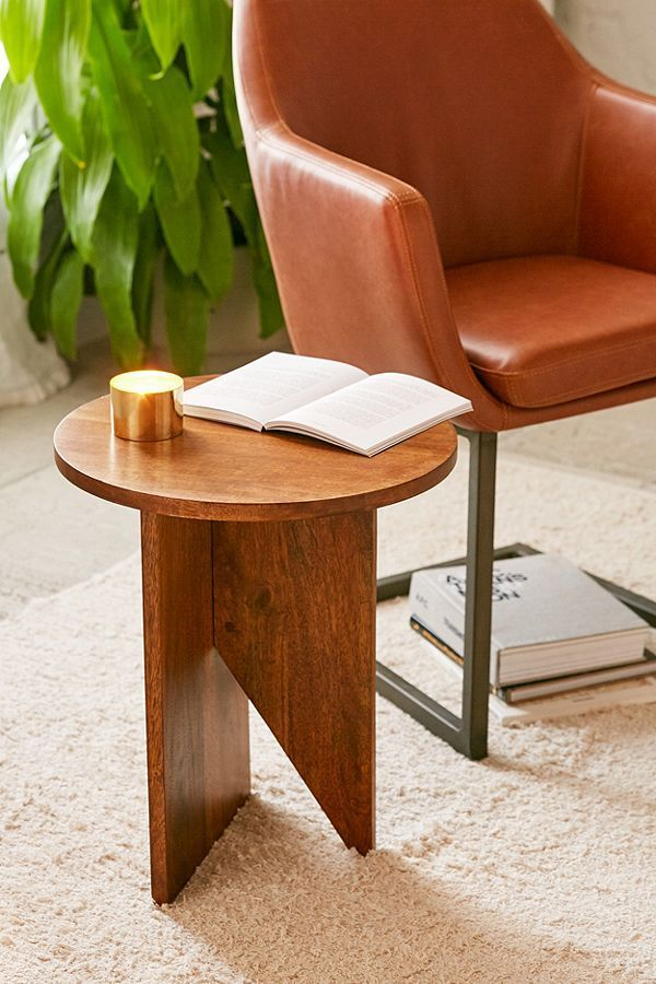 Slide View: 1: Hyland Wooden Side Table $150 UO