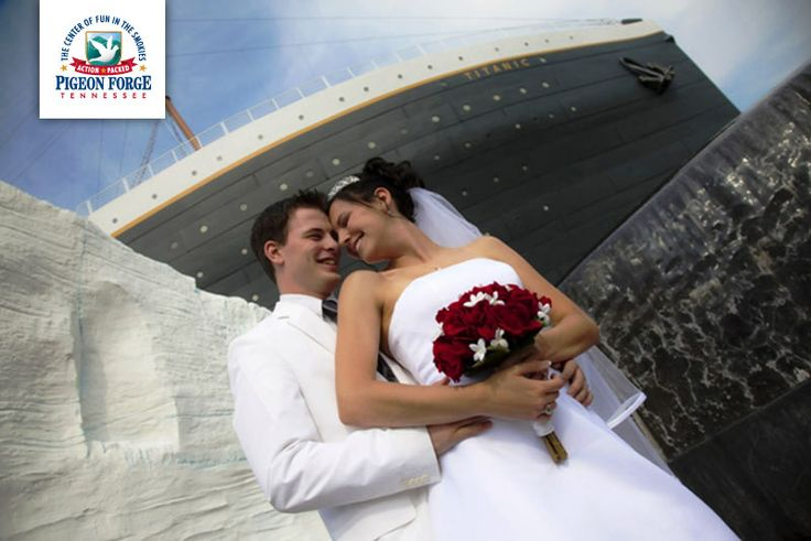 Titanic Museum- Walk the grand staircase, touch an iceberg or plan a romantic Titanic themed wedding at #TitanicMuseum in #PigeonForge.