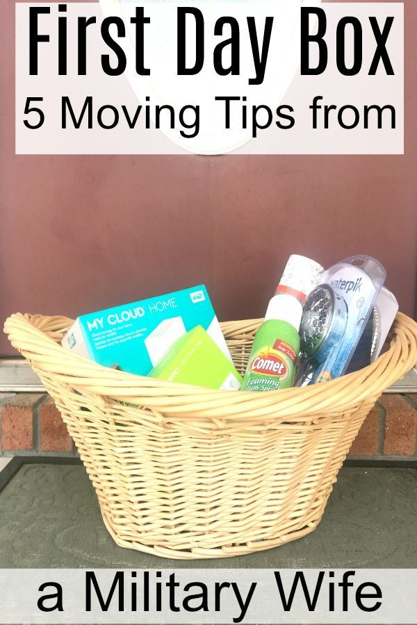 moving tips from a military wife - what is a first day box?  How can I make sure my move to a new home is as stress free as possible?  Check out these expert moving tips! #NewHomeownersBBxx #ad