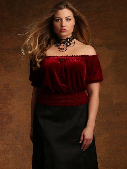Lauren Shaw.  Stretch Velvet Cropped Blouse
