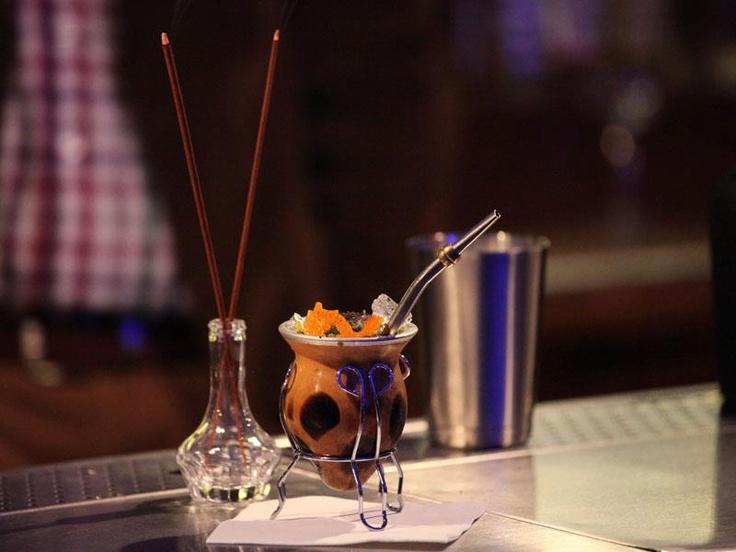 "Cocktails - Yerba mate sour - get recipe FB  - Trust me I'm a ""Bartender"""