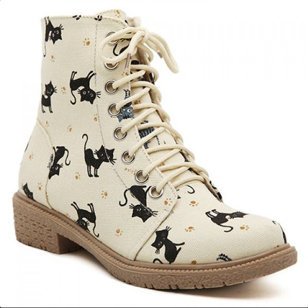 3a126d7e28 New cat canvas short boots Martin boots from Harajuku fashion in 2019