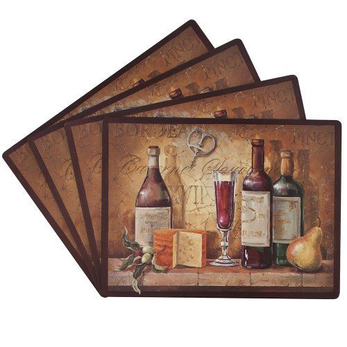 Benson Mills Bordeaux 100-Percent Cork Placemat, Set of 4 by Benson Mills. $39.99. Perfect for everyday use. Protects your table, while bringing elegance to your dining experience. Wipe Clean. Available in additional designs. Features a cork backed placemat with a very elegant design. Add style to your dinner party with these luxurious printed cork placemats. Available in additional designs to fit in for each dining experience. Protects your table, while bringing elegance to t...