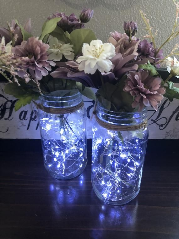 Customize Your Light Up Mason Jar Centerpieces For Your Wedding Baby Shower Birthday Party Or For Mason Jar Centerpieces Jar Centerpieces Mason Jar Wedding