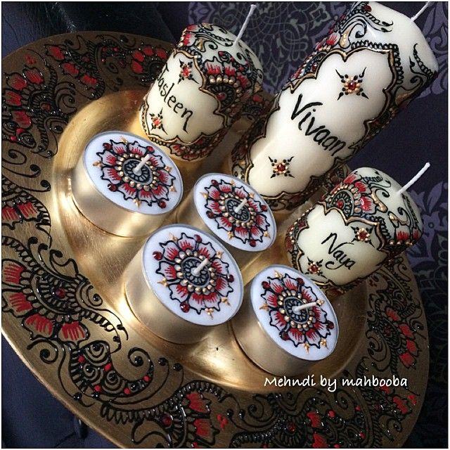 Another diwali gift set.. #candles #henna #mehndi #bespoke #art #HennaCandles #MehndiInspired #diwali #celebrate #festive #gift #personalised #instahenna #inspire #love #MehndiByMahbooba