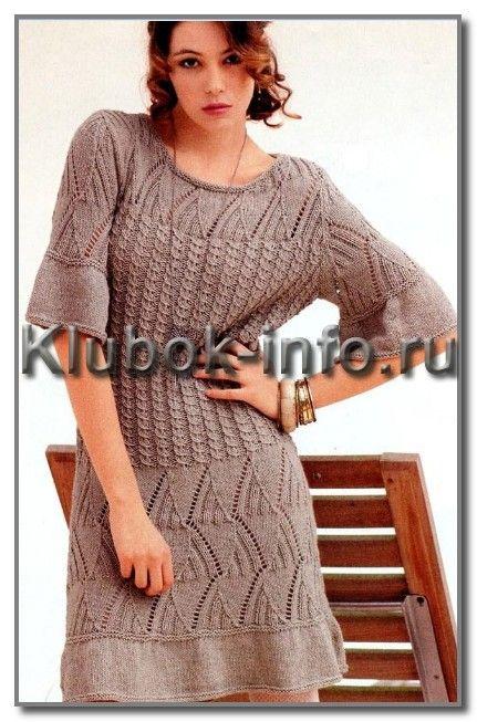Платье с ажурными и рельефными узорами. Обсуждение на LiveInternet - Российский Сервис Онлайн-Дневников