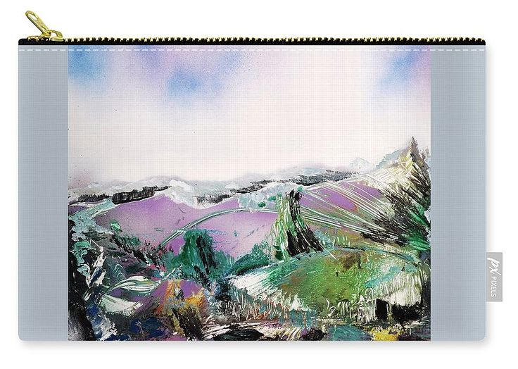 Lake Of The Dawn Carry-all Pouch Printed with Fine Art spray painting image Lake Of The Dawn Nandor Molnar (When you visit the Shop, change the size, background color and image size as you wish)