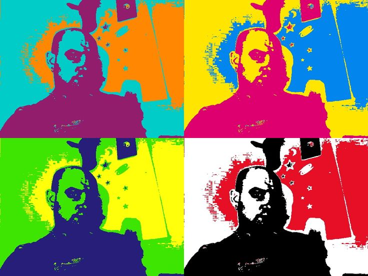 Another rendition of my profile picture made on Pics Art app. I love this! Very crazy vibrant and colourful!