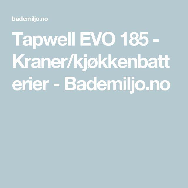 Tapwell EVO 185 - Kraner/kjøkkenbatterier - Bademiljo.no