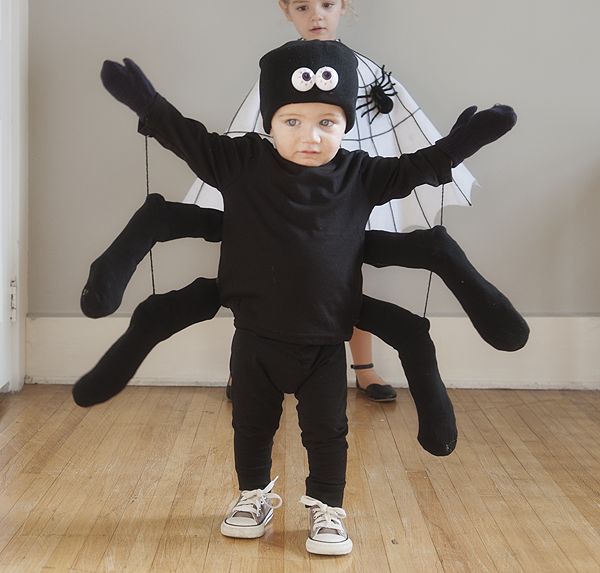 Homemade Halloween Costumes For Kids - Rock My Family blog | UK baby, pregnancy and family blog - Spider | Homemade spider fancy dress | Halloween spider costume