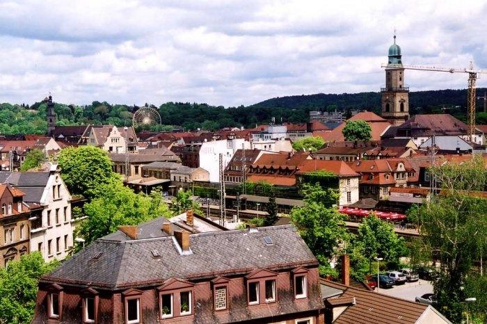 Erlangen - Blick auf die Innenstadt
