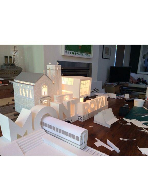 """3D model Backlit for """"Ville de Mont-Royal"""" Quebec www.stuart-McLachlan.com"""