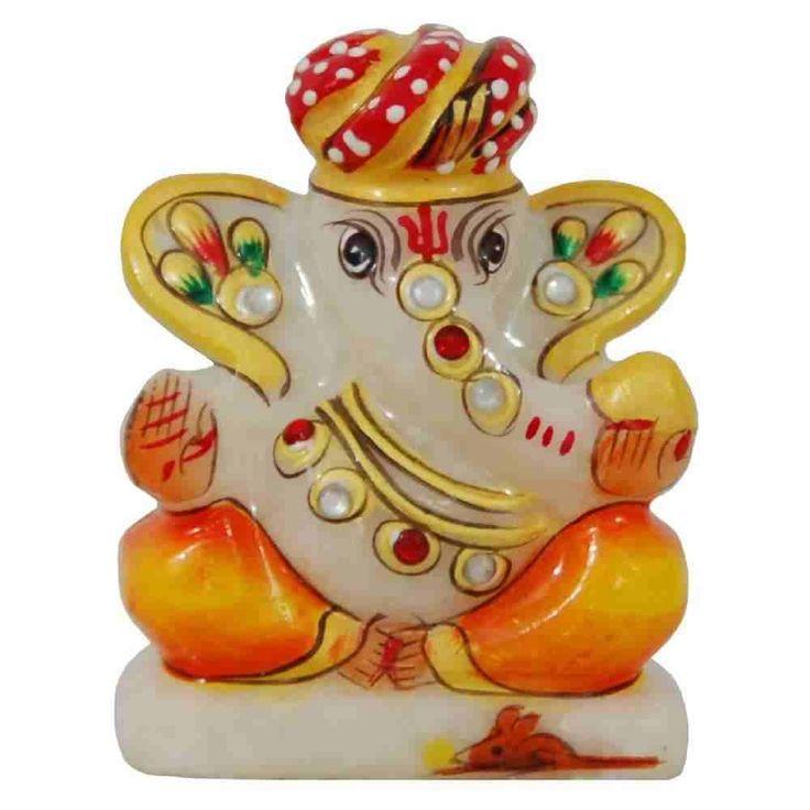 Rajasthani Style Ganapati Idol - Made of marble