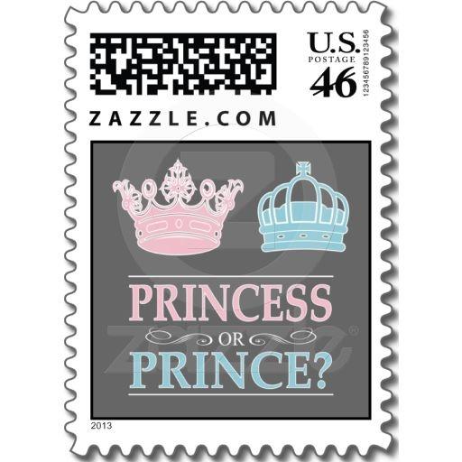 Princess Or Prince Gender Reveal Party Postage | Zazzle.com