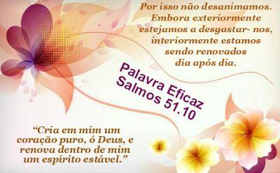 Promessas para hoje: Deus nos renova a cada Dia-2 Coríntios 4.16