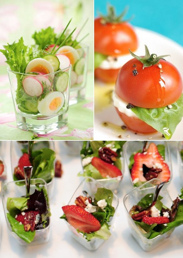 mini salads - Wedding Ideas, Wedding Trends, and Wedding Galleries