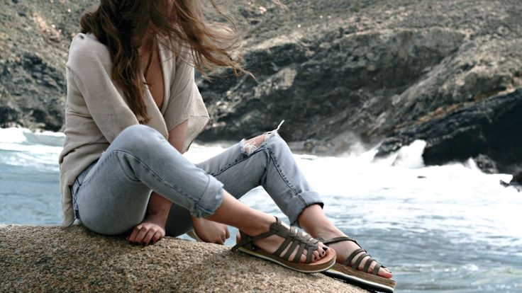 GREY sandals. Made in Greece.  #volax  find them here: www.esiot.gr