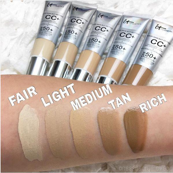 Best 25+ It cosmetics cc cream swatches ideas on Pinterest ...
