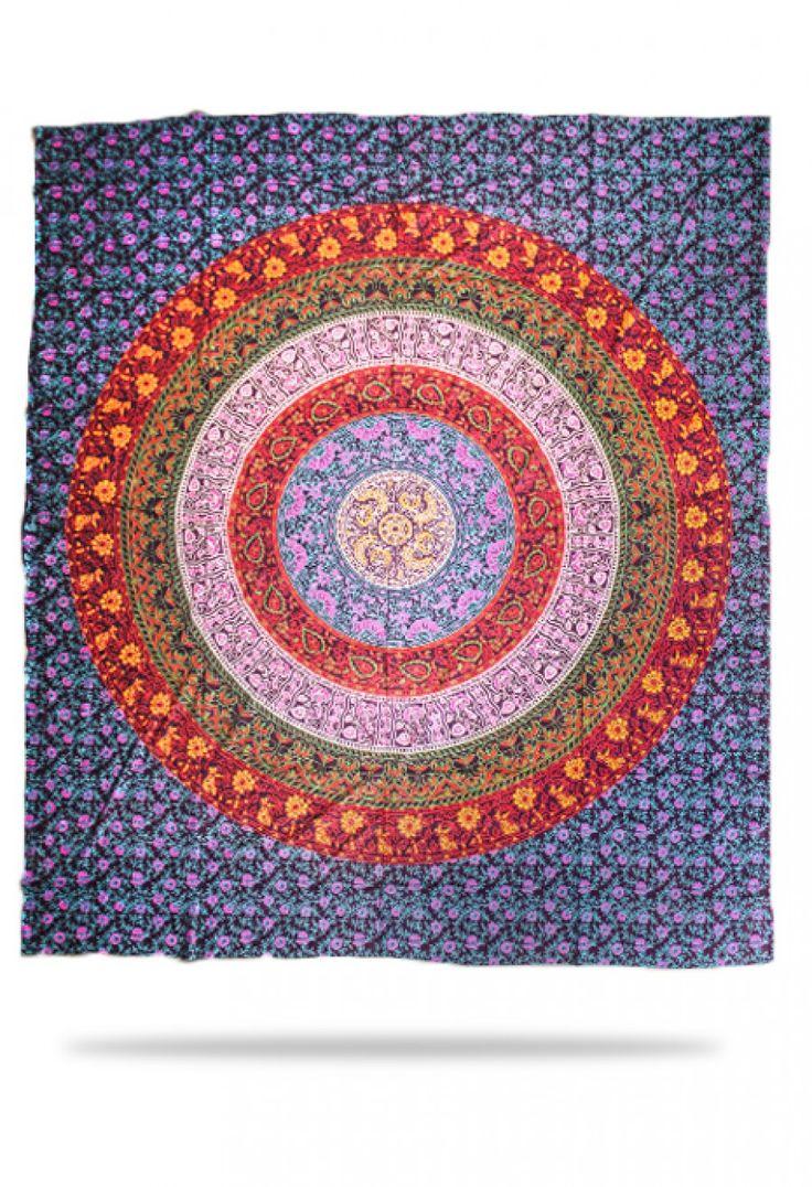6 Colour Purple Bedspread