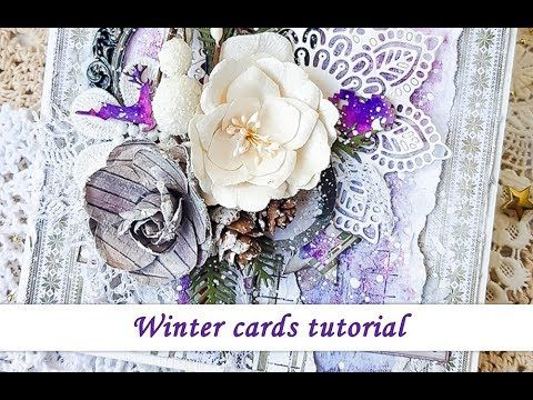 Video tutorial on how to create a card by Ola Khomenok featuring 7 Dots Studio Northern Lights collection.