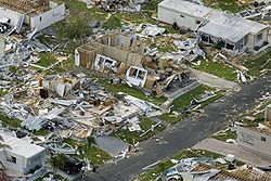 Hurricane Charley, in 2004, tore through Punta Gorda, FL, as I, along with my cat, Amber, were sheltered with Sun staffers at work. I had to replace my roof and drag the pool cage out of the pool and the tree out from the front door. Thanks to my friend Linda Blaize in Colo Spgs, CO, I was 6th on the list of USAA's appraisers. What a great insurance company. I drove home through what looked like a war zone. AND we got the paper out that day and every day after!