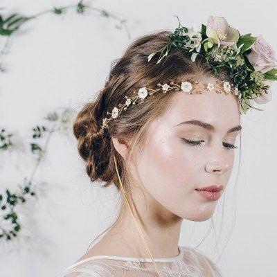 Daisy chain hair vine by Debbie Carlisle