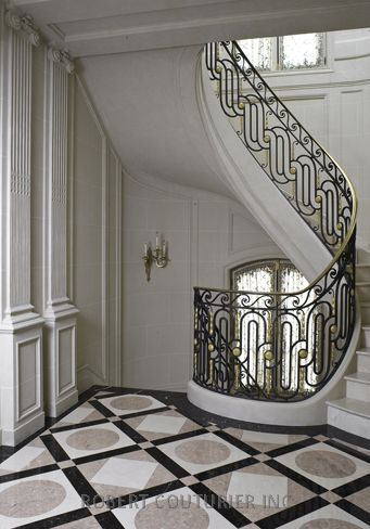 Stunning geometric design in an 18th Century House in Brooklyn Gallery | Robert Couturier | via robertcouturier.com
