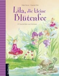 Lila, die kleine Blütenfee | thingle.com - Auf der Blaubeerlichtung tief im Wald wohnen Lila und die anderen Blütenfeen. Dort fliegen Schmetterlinge und Libellen zwischen den bunten Blumen umher; die Feen feiern eine Mondscheinparty, retten die Schildkröte Kunigunde vor einer frechen Ente und lernen einen Gnom namens Gisbert kennen.Lila lernt, eine Schleife zu binden, mit Langeweile zu kämpfen oder auch ihre Wut im Bauch auszuhalten. 14 Geschichten erzählen von der kleinen Blütenfee Lila und…