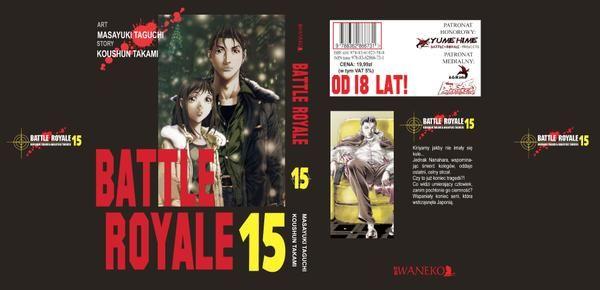 Obwoluta Battle Royale # 15, ostatniego tomu z serii, premiera: 4.03.15