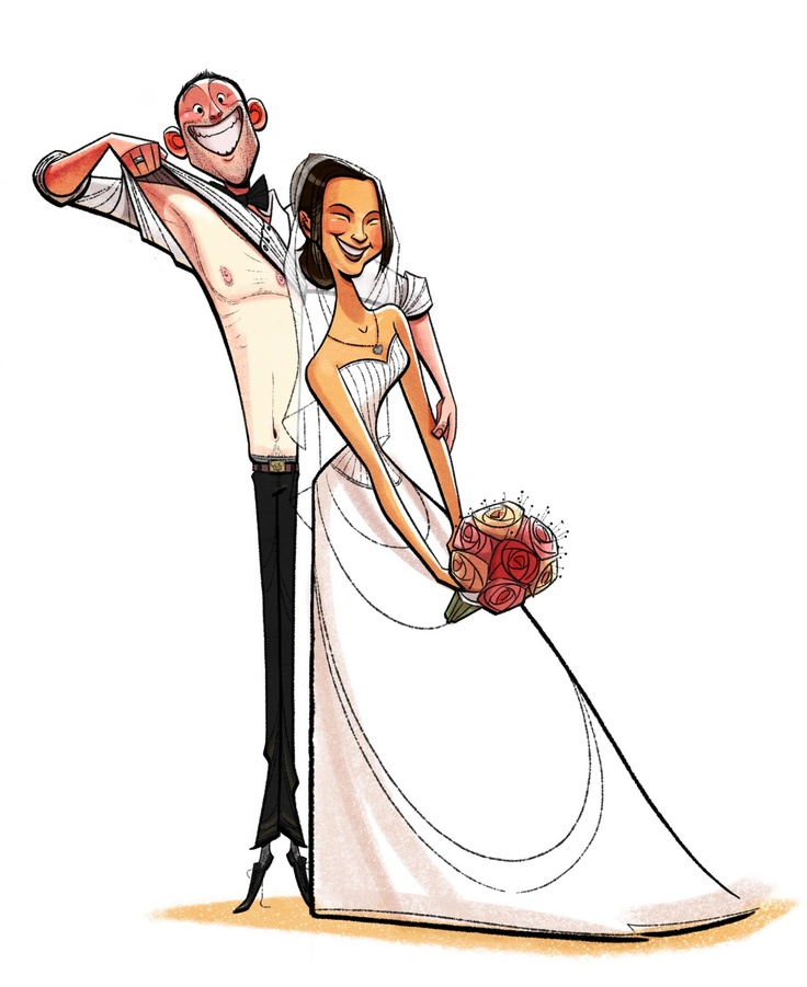 Les 48 meilleures images propos de dessins couple sur - Photo de mariage couple ...
