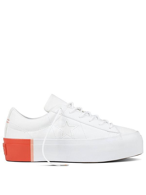 9d16375bc98f5 Converse One Star Platform Tri-block Midsole Ox - White Orange