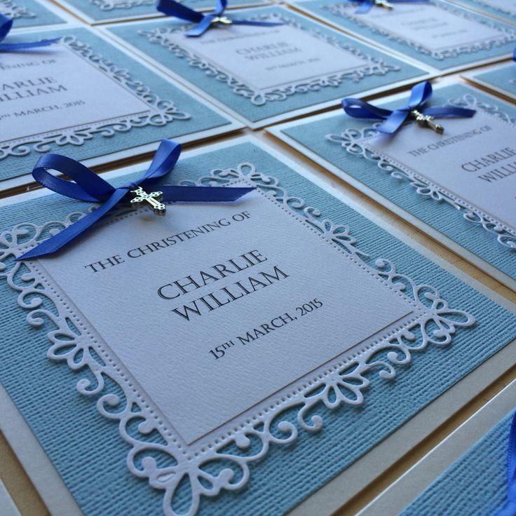 AMAURA designs handmade christening invitations