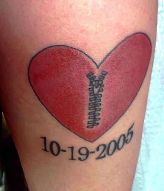 Open heart surgery tattoo, I like this concept, just not this design!