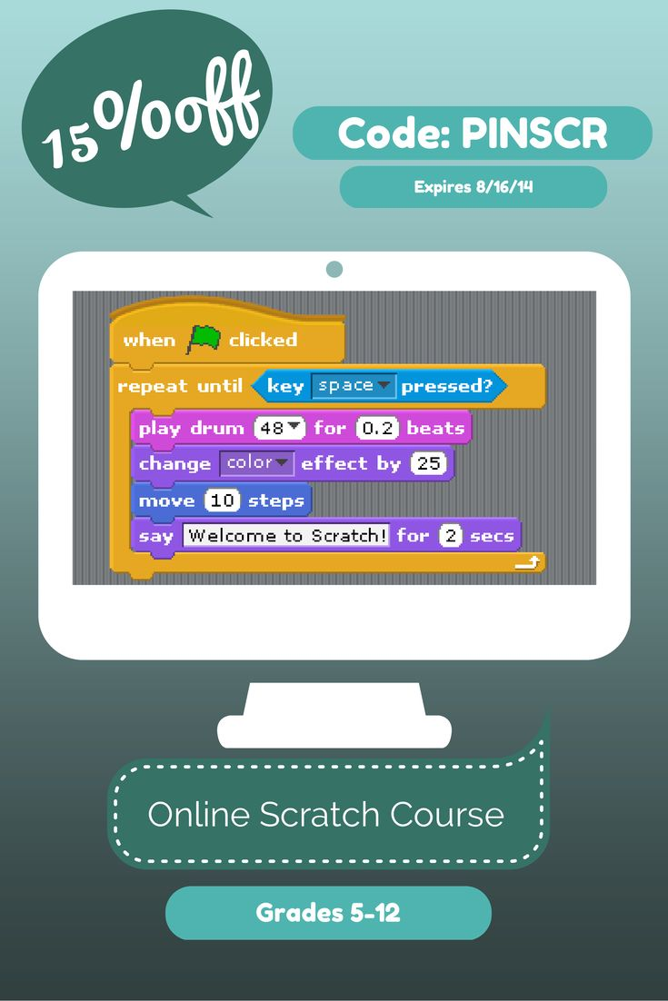 Use this coupon before 8/16/2014 to get 15% discount off our semester long Scratch Programming Class http://fundafunda.com/fallclasses #coding #homeschool #programming