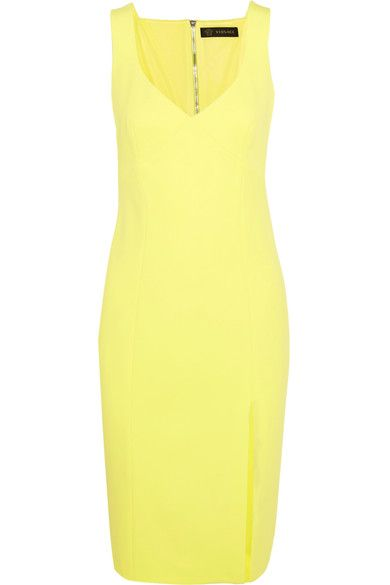 Versace - Stretch-crepe Dress - Bright yellow - IT