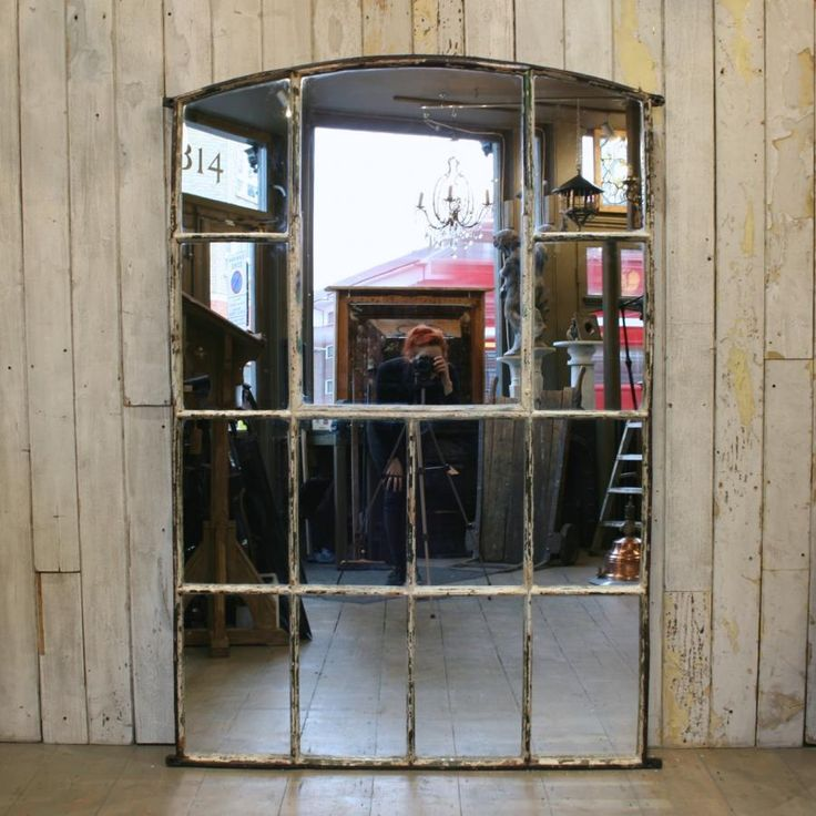 Light Industrial Warehouse For Sale London: Antique Cast Iron Window Mirror For Sale On SalvoWEB From