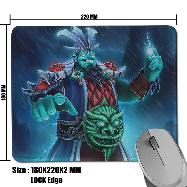 Fashion Style DOTA 2 Heroes Professional Gaming Mouse Mat Comfort Natural Rubber Rectangle Mousepad 180x220x2mm