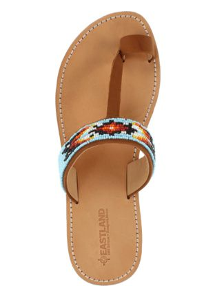 Go tribal in this beaded sandal collection-