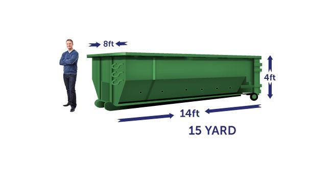15 yard budget dumpster