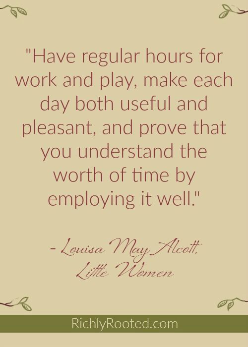The Little Women Guide to Homemaking - Richly Rooted