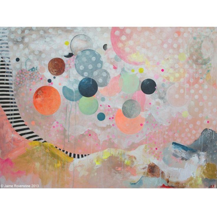 Artist Spotlight Series: Jaime Rovenstine - colourful artworks. http://obus.com.au