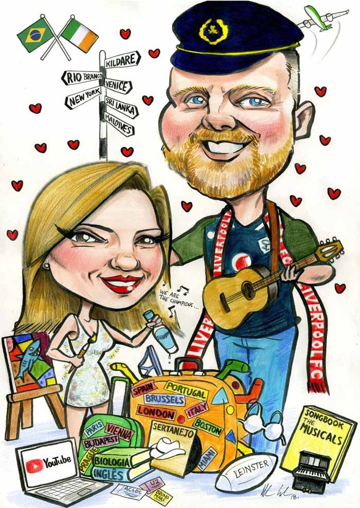 Birthday Gifts for Her Ireland! Caricatures Ireland by
