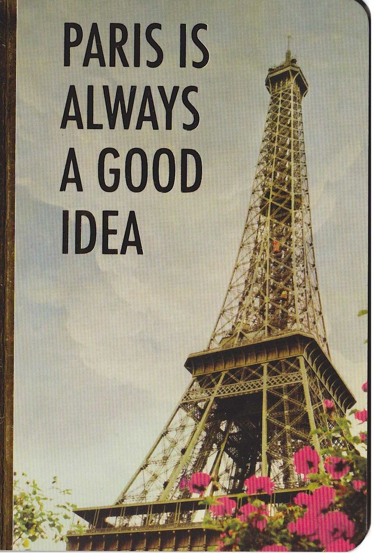 Paris Is Always A Good Idea - Notebook available now @ Li'l Treasures $5.50 with free postage