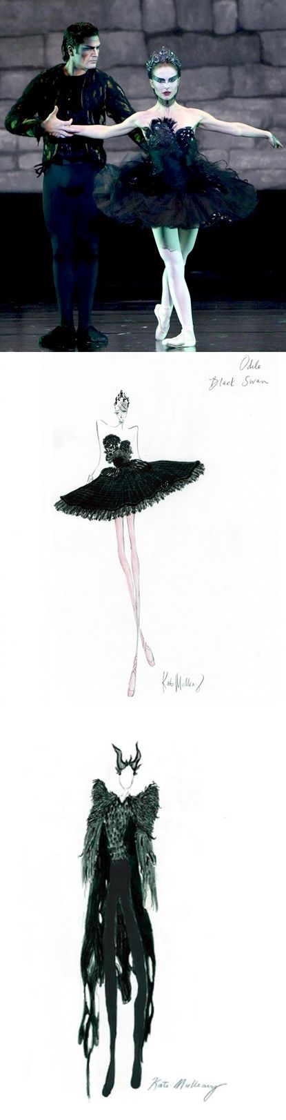 'Black Swan' costume renderings by Rodarte