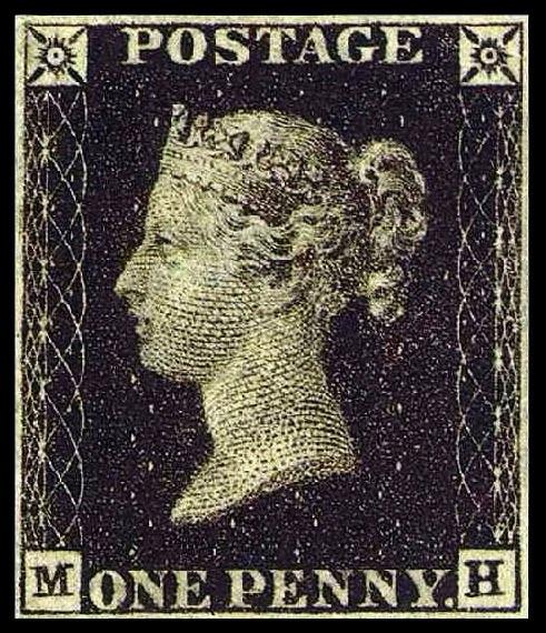 Penny Black - British postage stamp