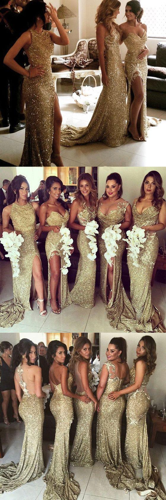 Sequin bridesmaid dresses, long mismatched bridesmaid dresses, sexy gorgeous bridesmaid dresses, sparkly wedding party dresses,15469