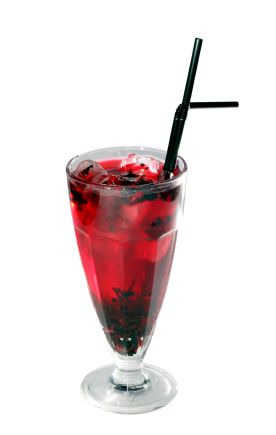 glass of Berry Punch